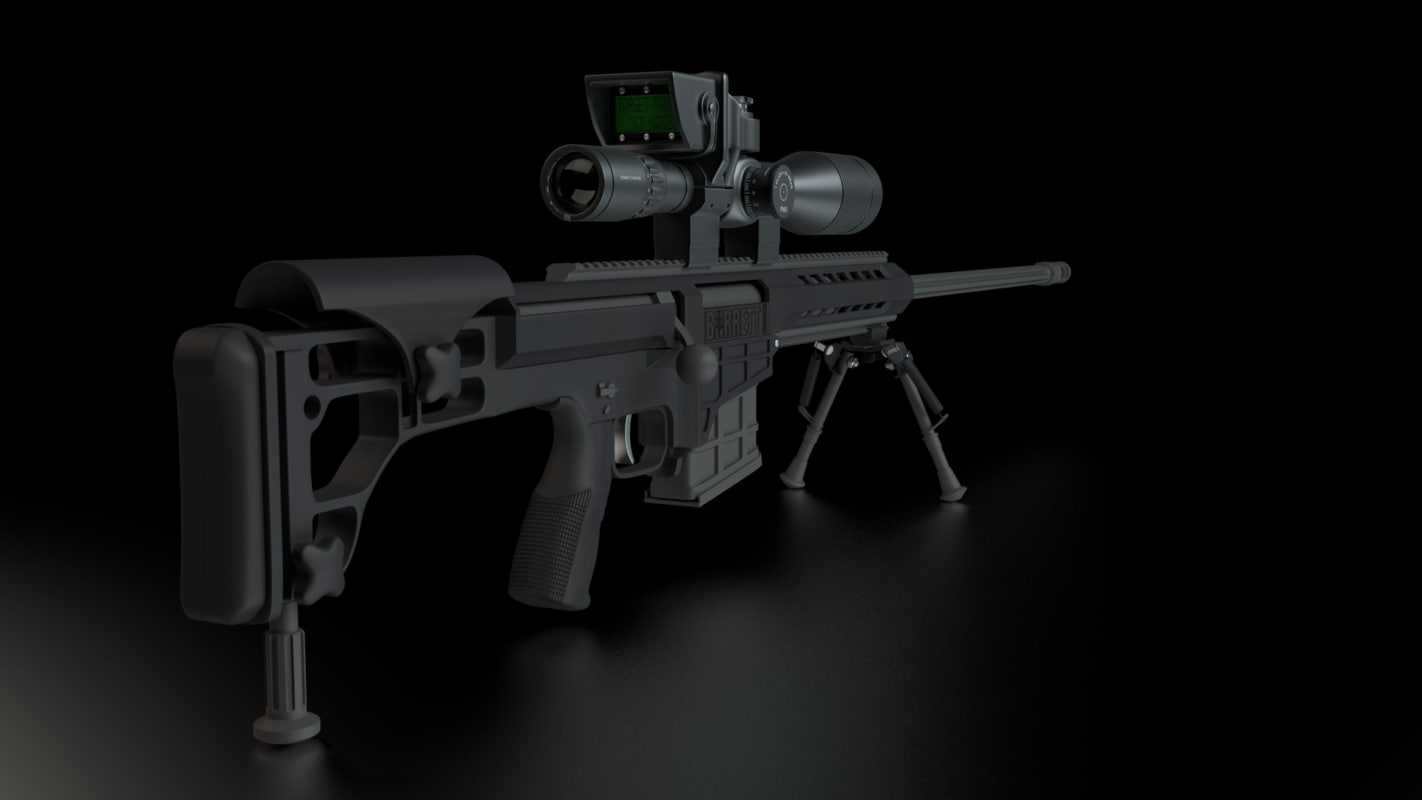 3d Model Barrett Sniper Rifle