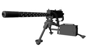 machine gun browning 3d model