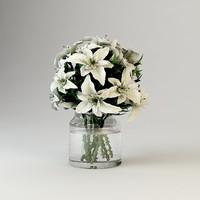3ds modern bouquet flowers