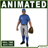 White Baseball Pitcher 8215 tris