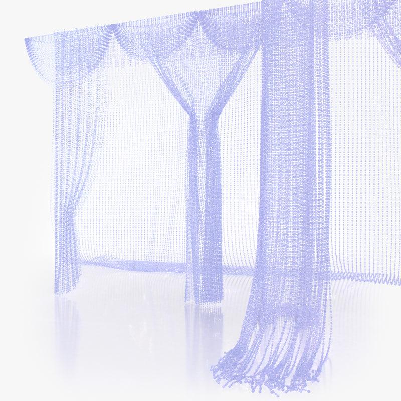 3d model crystal curtain
