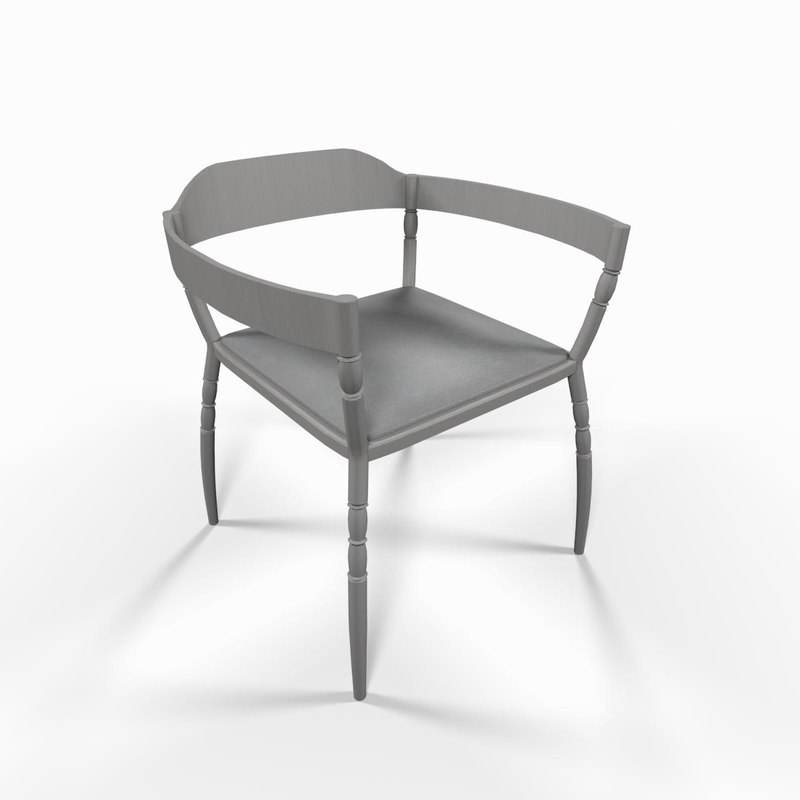 white armchair seat chair 3d max