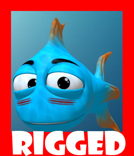 cartoon fish 3d ma