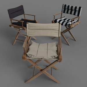 3d model onward trading directors chairs