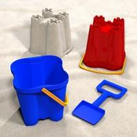 3d model sand castle bucket