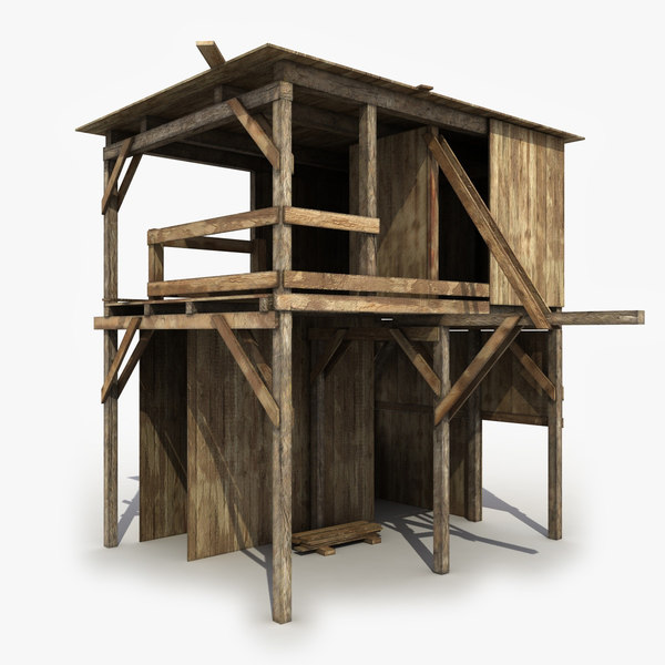 shed wooden wood 3d model