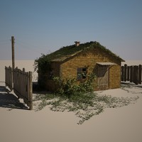 forest hut 3d model