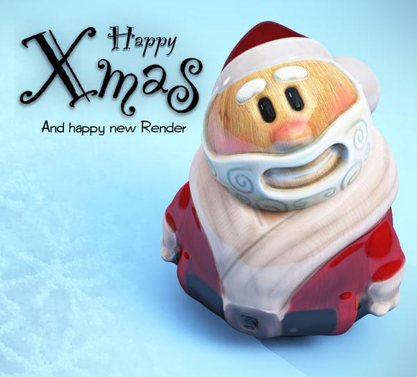 3d model of santa toy xmas
