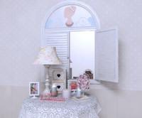 3d decorative set model