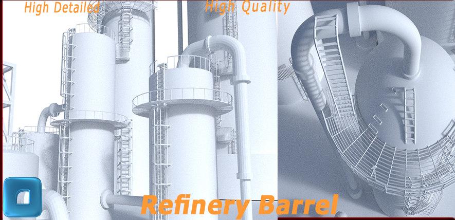 3d model refinery barrel big