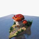 mushroom house 3D models