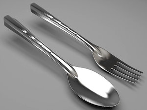 fork spoon 3d max