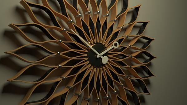 3d vitra sunflower clock model