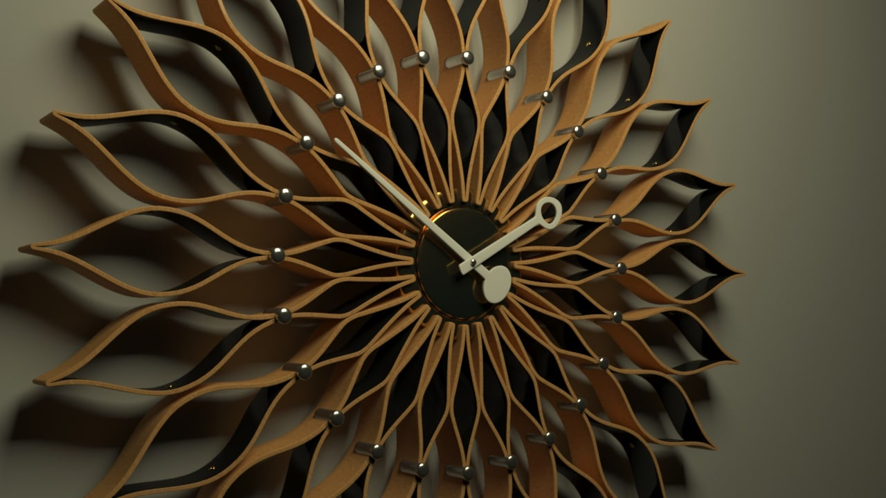 3d vitra sunflower clock model
