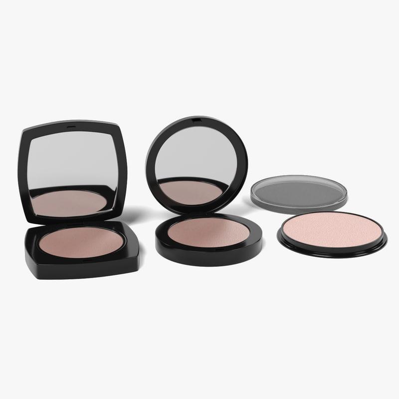 face powders 3d model