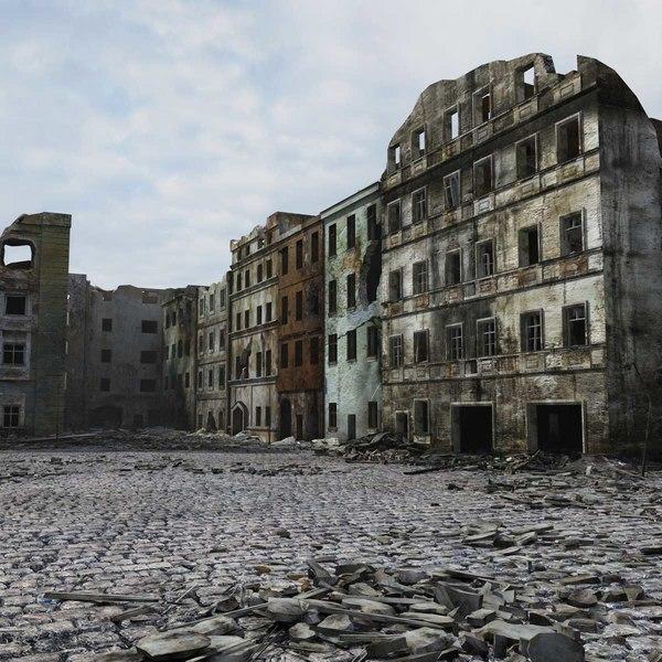 max ruined city ww2 warsaw