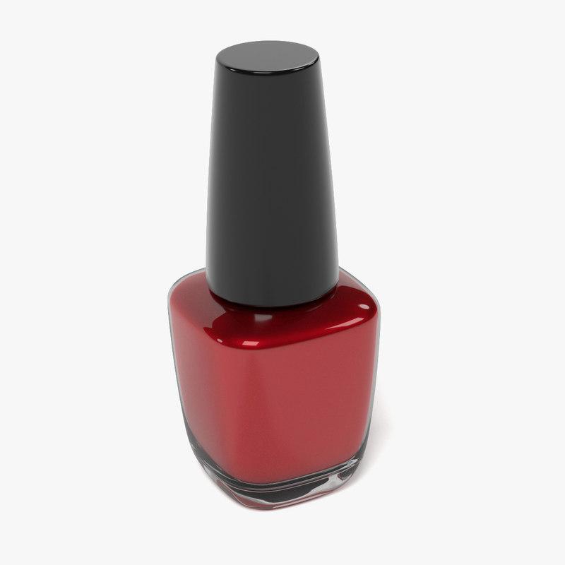nail polish 3d fbx
