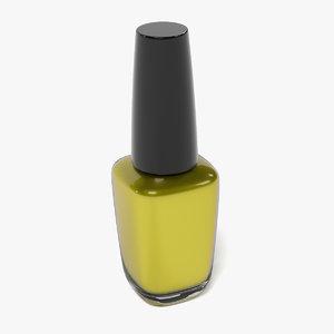 nail polish 3d obj