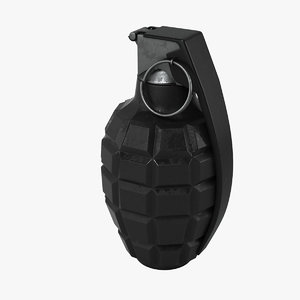 3d grenade realistic model