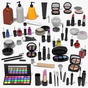 cosmetics mascaras nail 3d model