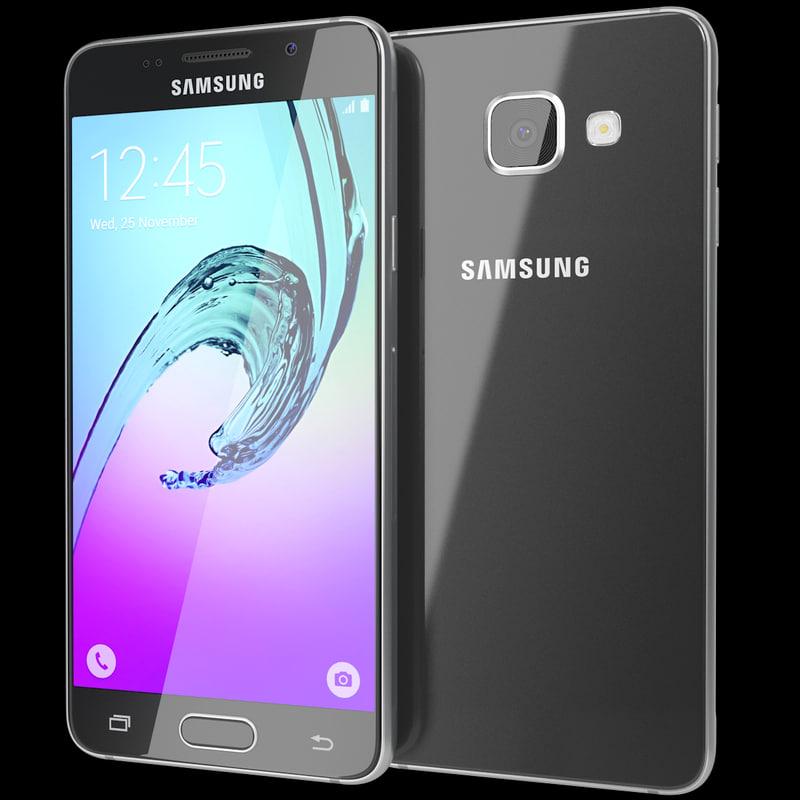 realistic samsung galaxy a3 3d model