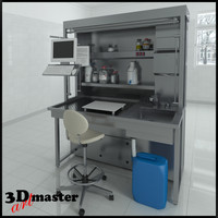 3d model table laboratory equipment