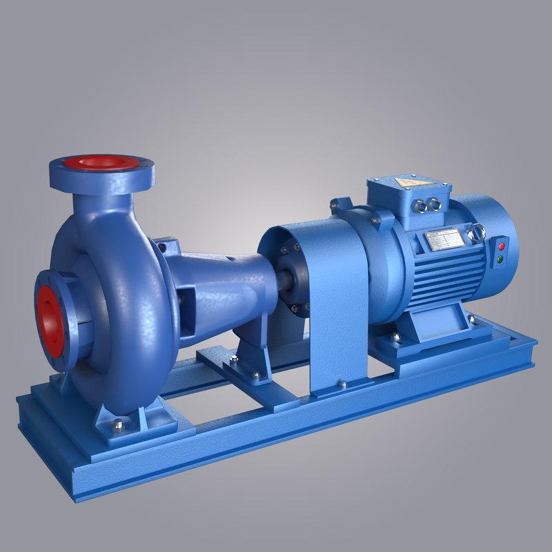Water centrifugal pump 3d model - Water kamer model ...