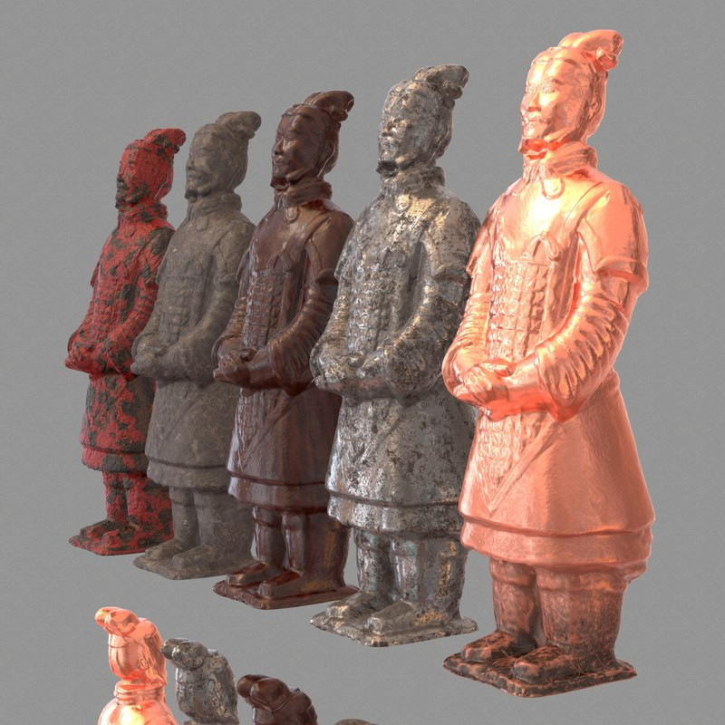 terracotta warrior 3d obj