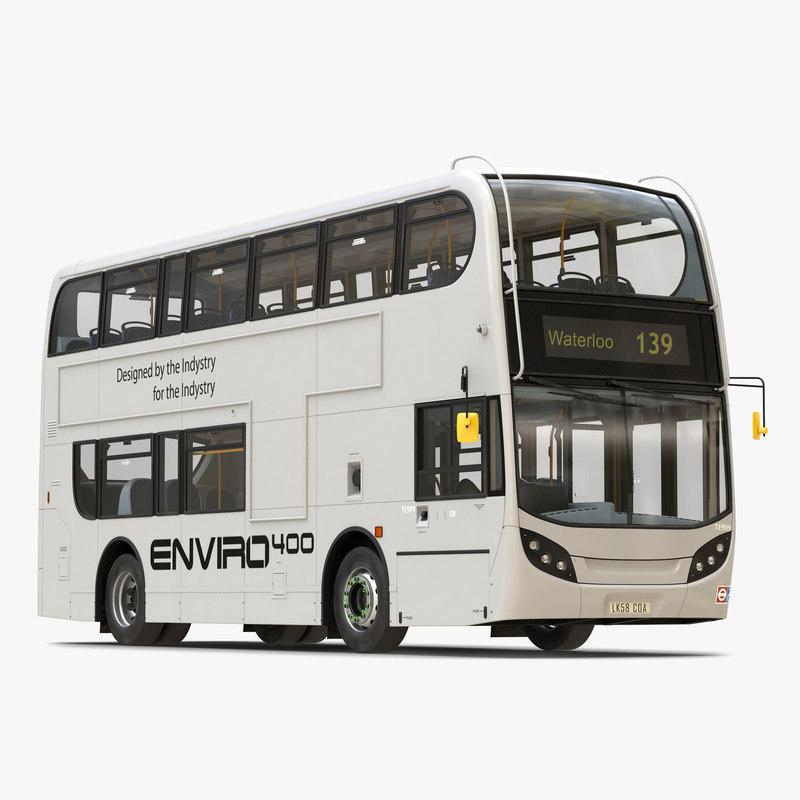 alexander dennis bus enviro400 3d model