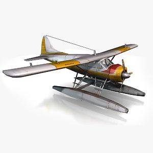 3d plane sea