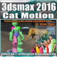 007 3ds max 2016 Cat Motion vol.7.0 Italiano cd front