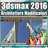 008 3ds max 2016 Architettura e Modificatori vol.8_cd front