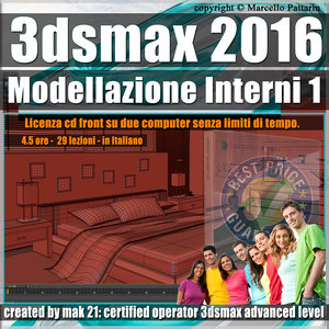 009 3ds max 2016 Modellazione Interni v.9.0 Italiano cd front