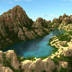 scene mountain lake landscape max