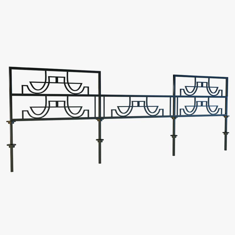 3d iron railing model