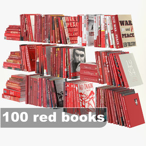 3d red books set