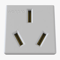3d chinese elecrical outlet model