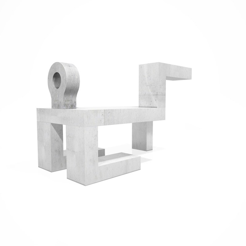 human bench 3d model