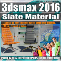 011 3ds max 2016 Slate Material v.11 Italiano cd front
