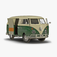 3d volkswagen type 2 panel