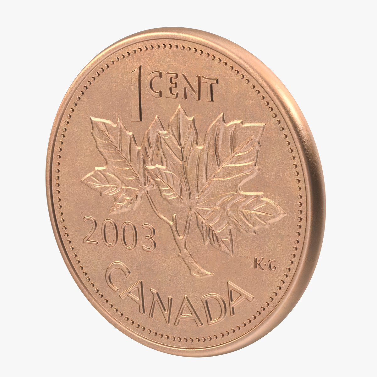 1 Cent And Dollar Canada Coins