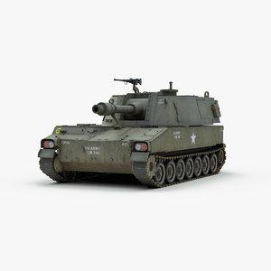 m108 howitzer 3d model