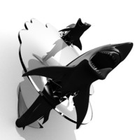 Shark Glass Table