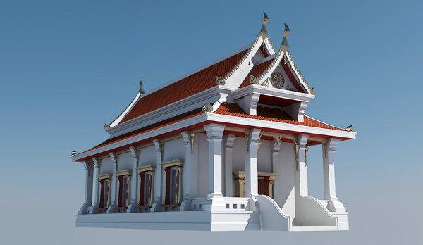 thai temple 3d model