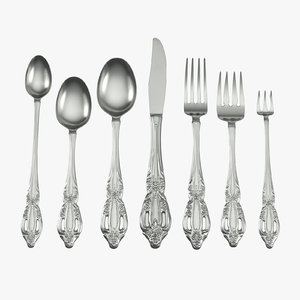 formal silverware 3d model