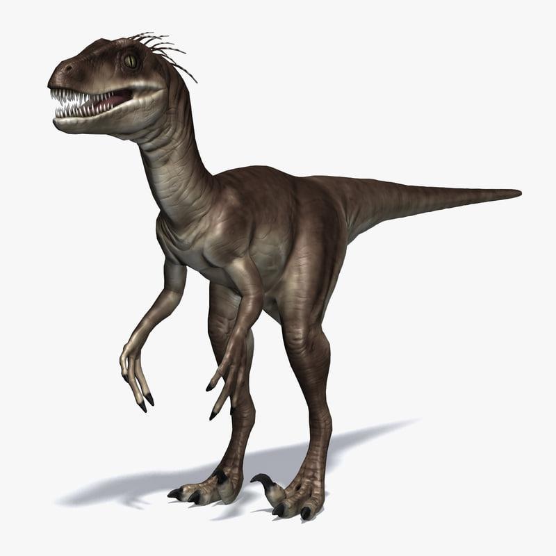 3d raptor carnivore model