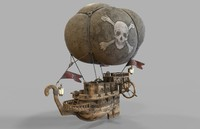 3d model airship ship air