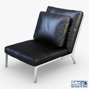 3dsmax victory black leather
