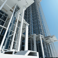 modern futuristic building max