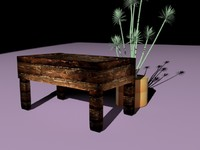 wooden glass table max free